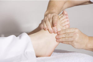 Relaxing with reflexology